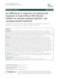 Sex differences in responses to antiretroviral treatment in South African HIV-infected children on ritonavir-boosted lopinavir- and nevirapine-based treatment
