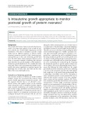 Is intrauterine growth appropriate to monitor postnatal growth of preterm neonates?