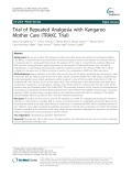 Trial of repeated analgesia with kangaroo mother care (TRAKC Trial)