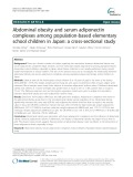 Abdominal obesity and serum adiponectin complexes among population-based elementary school children in Japan: A cross-sectional study