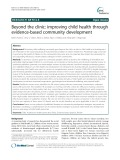 Beyond the clinic: Improving child health through evidence-based community development