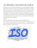 Quy trình quản lý nhân sự theo tiêu chuẩn ISO