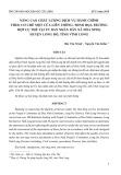 Nâng cao chất lượng dịch vụ hành chính theo cơ chế một cửa liên thông: Minh họa trường hợp cụ thể tại ủy ban nhân dân xã Hòa Ninh, huyện Long Hồ, tỉnh Vĩnh Long
