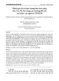Đánh giá rủi ro hàm lượng kim loại nặng (As, Cd, Pb, Zn) trong rau muống đối với sức khỏe con người ở TP.HCM