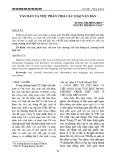 Văn bản và việc phân chia các loại văn bản