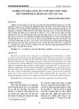 Nghiên cứu khả năng xử lý độ màu nước thải dệt nhuộm bằng hệ quang xúc tác TiO2