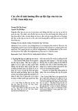 Các yếu tố ảnh hưởng đến sự độc lập của tòa án ở Việt Nam hiện nay