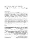 Công nghiệp hóa, hiện đại hóa ở Việt Nam: Từ nhận thức đến hành động và một số khuyến nghị