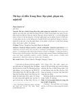Thi học cổ điển Trung Hoa: Học phái, phạm trù, mệnh đề