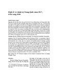 Kinh tế và chính trị Trung Quốc năm 2017, triển vọng 2018