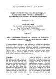 Nghiên cứu phương pháp động học huỳnh quang xác định đồng thời tyrosin và tryptophan dựa trên phản ứng với phức Rutheni(II) polypyridin