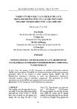 Nghiên cứu động học và cơ chế hấp thu Cr(VI) trong môi trường nước của vật liệu polyanilin tổng hợp với dịch chiết nước và bã chiết sim
