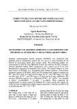 Nghiên cứu khả năng hấp phụ một số kim loại nặng trong nước bằng vật liệu nano compsite GO/MnO2