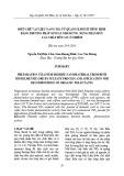 Điều chế vật liệu nano TiO2 từ quặng ilmenit Bình Định bằng phương pháp sunfat nhằm ứng dụng phân hủy các chất hữu cơ ô nhiễm