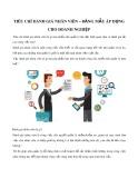 Tiêu chí đánh giá nhân viên - Bảng mẫu áp dụng cho doanh nghiệp