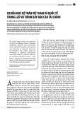Chuẩn mực kế toán Việt Nam và quốc tế trong lập và trình bày báo cáo tài chính