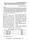 Đánh giá mức độ đa dạng di truyền loài Du sam đá vôi (Keteleeria davidiana (Bertrand) Beissn.) bằng kỹ thuật Rapd