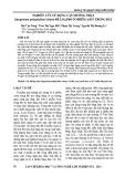 Nghiên cứu sử dụng cây Muống Nhật (Syngonium podophyllum Schott) để loại bỏ ô nhiễm Asen trong đất