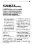 Chính sách thuế đối với hệ sinh thái khởi nghiệp ở Việt Nam