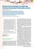 Đổi mới cơ chế tài chính đơn vị sự nghiệp công theo tinh thần Nghị quyết Trung ương 6 (khóa XII)