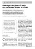 Chính sách tài chính hỗ trợ khởi nghiệp: Kinh nghiệm quốc tế và bài học với Việt Nam