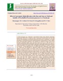 Effect of agronomic biofortification with zinc and iron on yield and quality of Pearlmillet [pennisetum glaucum (L.)] genotypes