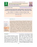 Evaluation of soil nutrient index and their relation with soil chemical properties of washim road farm of Dr.PDKV Akola, Maharashtra, India