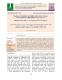 Studies on variability, heritability and genetic advance in parental lines of hybrid rice (Oryza sativa L.)