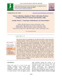 Factors affecting adoption of maize cultivation practices in Rajouri district of Jammu and Kashmir, India
