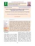 Impact of climate change on agriculture and allied activities in Jagatsinghpur district of Odisha, India