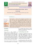 Food security and nutritional status in India - A review