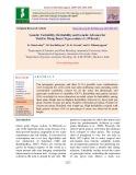 Genetic variability, heritability and genetic advance for yield in mung bean [Vigna radiata (L.)Wilczek]