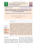 Changes in soil dehydrogenase activity and herbicide efficiency index as influenced by different tillage and weed management practices under rice - maize cropping system