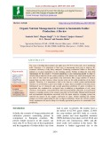 Organic nutrient management in context to sustainable fodder production: A review