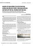 Nghiên cứu ảnh hưởng của góc độ mỏ hàn, hướng hàn đến kích thước, hình dạng mối hàn giáp mối lớp thứ hai, phương pháp hàn MAG