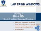 Bài giảng Lập trình trên môi trường Window: Chương 4 - ThS. Dương Thành Phết