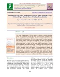 Estimation of crop water requirement (CWR) of major vegetable crops of selected agro-climatic zones of Madhya Pradesh, India