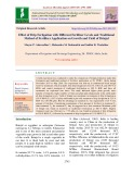 Effect of drip fertigation with different fertilizer levels and traditional method of fertilizer application on growth and yield of Brinjal