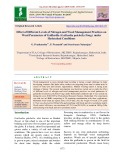 Effect of different levels of nitrogen and weed management practices on weed parameters of Gaillardia (Gaillardia pulchella Foug.) under hyderabad conditions