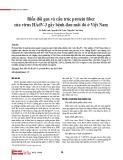 Biến đổi gen và cấu trúc protein fiber của virus HAdV-3 gây bệnh đau mắt đỏ ở Việt Nam