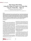 Hàm lượng dinh dưỡng trong đất trồng cây ăn quả và cây dược liệu vùng tây Thanh Hóa - Nghệ An