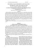 Ảnh hưởng của quá trình trích ly đến hàm lượng polyphenol và khả năng chống oxy hóa từ cây lá đắng (Vernonia Amygdalina)