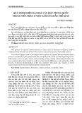 Quá trình hiện đại hoá văn học Trung Quốc trong tiếp nhận ở Việt Nam nửa đầu thế kỉ XX