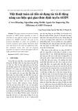 Một thuật toán cải tiến sử dụng tác tử di động nâng cao hiệu quả giao thức định tuyến AODV