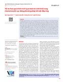 Tối ưu hoá quá trình trích ly protein từ sinh khối rong chaetomorpha sp. bằng phương pháp bề mặt đáp ứng