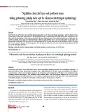 Nghiên cứu chế tạo sợi polystyrene bằng phương pháp kéo sợi ly tâm (centrifugal spinning)