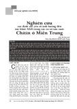 Nghiên cứu xác định các yếu tố ảnh hưởng đến sức khoẻ người lao động trong các cơ sở Chitin ở miền Trung