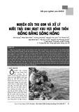 Nghiên cứu thu gom và xử lý nước thải sinh hoạt khu vực đồng bằng Sông Hồng
