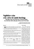 Nghiên cứu các yếu tố ảnh hưởng đến hiệu quả xử lý khí H2S trong hệ thống lọc sinh học kiểu nhỏ giọt chế tạo Việt Nam