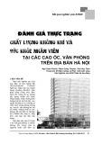 Đánh giá thực trạng chất lượng không khí và sức khỏe nhân viên tại các cao ốc, văn phòng trên địa bàn Hà Nội